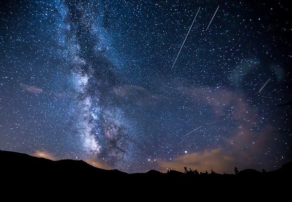 Meteors and Milky Way