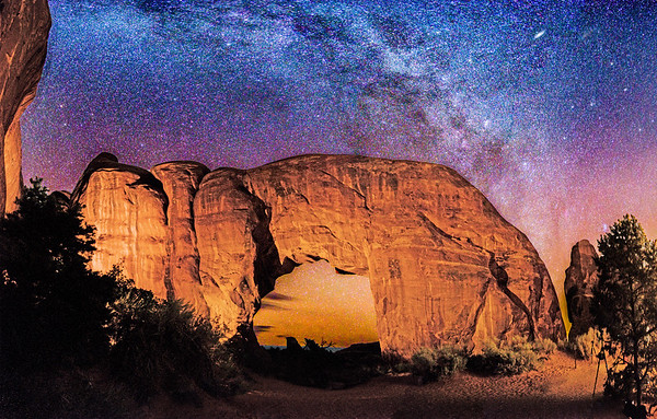 Milky Way over Pine Tree Arch