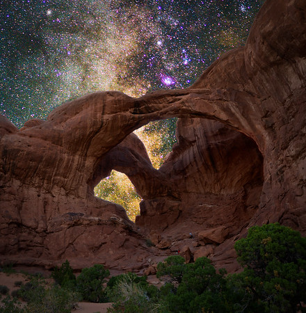 Milky Way in the Double Arch