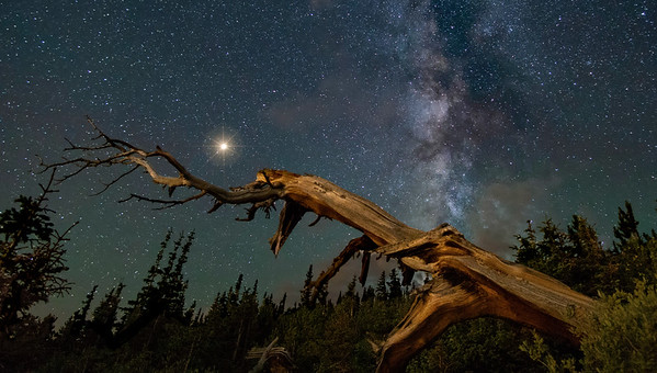 Mars and the Milky Way