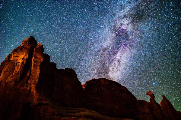 Queen Nefertiti Milky Way Landscape