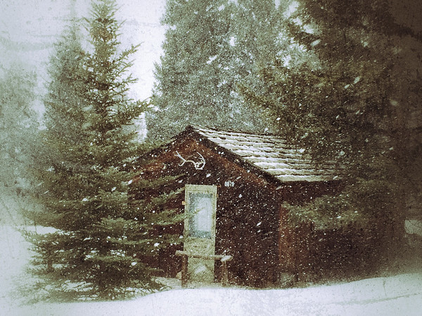 Wintry Cabin