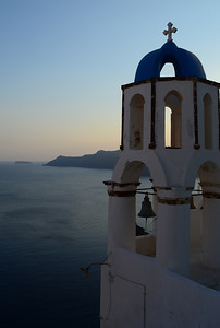 Santorini Blue Dome View