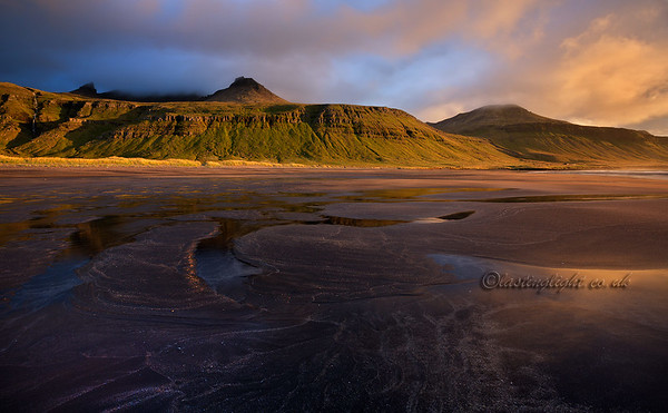 Búlandshöfði, evening light