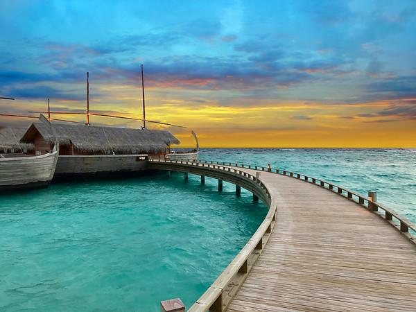 Sunset in Maldives