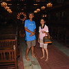Baba and Cherrie inside main lobby of Sto Nino Shrine
