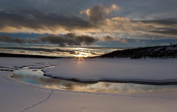 Hayden Valley sunset