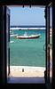 Through the windows at Mykonos, Greece