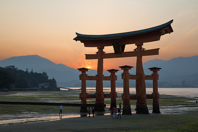 Sunset Beyond Itsukushima Shrine
