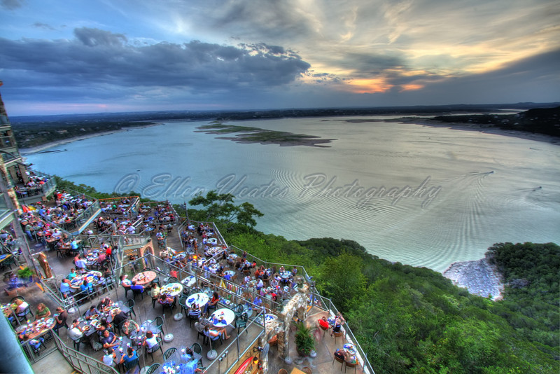 Oasis restaurant in Travis County, over looking Lake Travis, in Austin, Texas<br /> <br /> This photo was taken on August 22, 2009