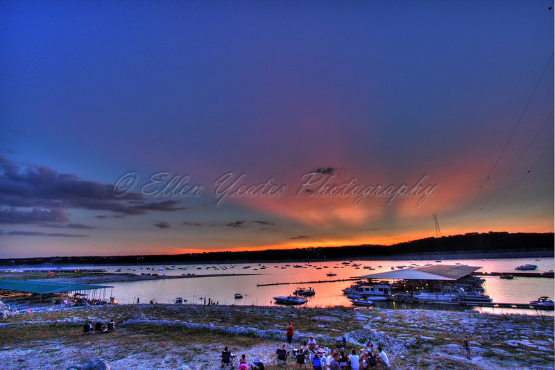 Lake Travis by Carlos' n Charles resturant. It was taken on July 3, 2009.