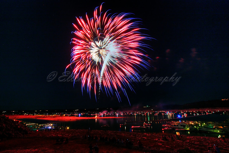 Fireworks<br /> <br /> Lake Travis by Carlos' n Charles resturant. It was taken on July 3, 2009.
