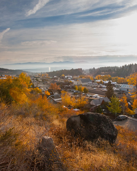 Town of Truckee, CA on morning run