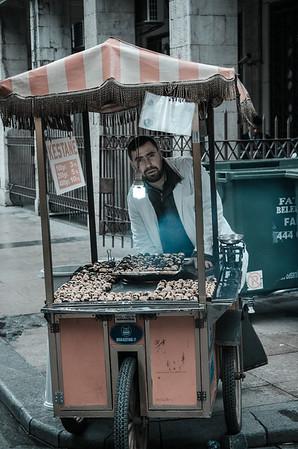 Kestane street vendor, Istanbul