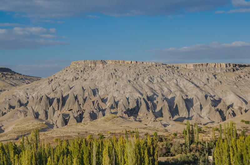 Fairy chimneys rock formations near Ihlara valley in Capaddocia