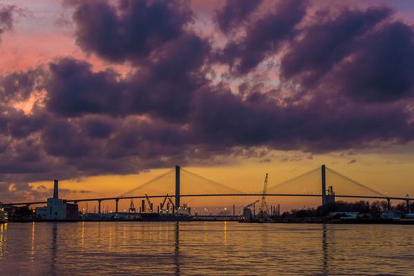 Savannah Bridge Sunset