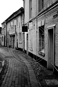 Side alleyway off High Street, Newport, Shropshire.