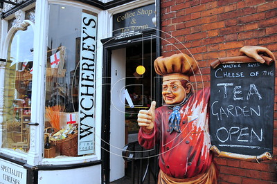 The old Wycherley's Deli, High Street, Newport, Shropshire.