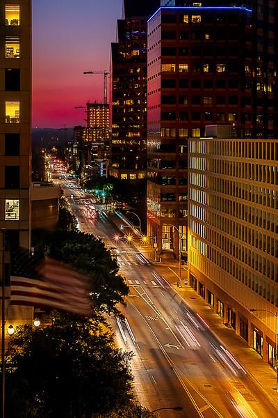 Cesar Chavez Sunset - Austin, TX.