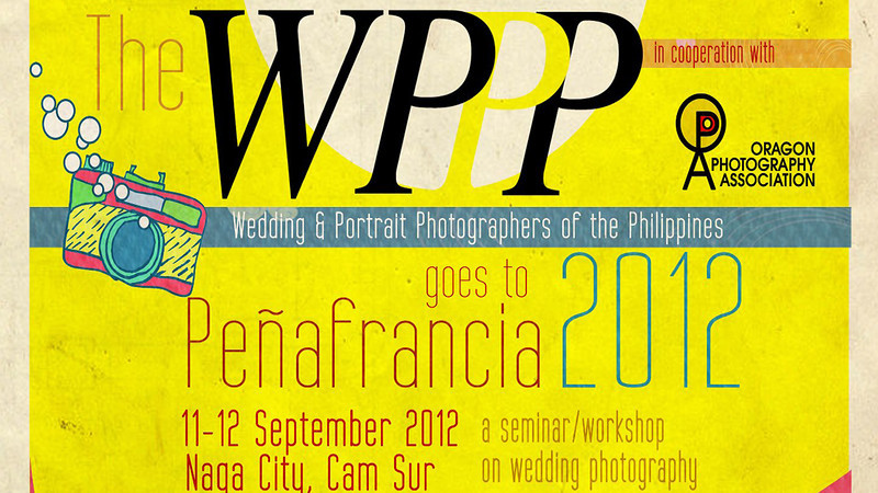 Weddings may not be everyone's cup of tea but as a wedding photographer, it was one of my objectives to join the Photography seminars and congresses with the Wedding and Portrait Photographers of the Philippines (WPPP).  It was in 2005 when I first joined the WPPP Photo Congress in Manila and it changed my perspective and outlook in Photography.  One has to invest his or her time, talent and treasure in keeping up with the trends in the wedding photography industry.   It really inspired me to be serious in improving my craft as a photographer.  Since then I learn to do Photoshop, Video Editing, Web Designing, Marketing, etc...  and now I was able to share my workflow in the recently concluded activity of the WPPP as a member.  The seminar was held at the Avenue Plaza Hotel.   Here are some of the video clips we  gathered during the two day event..  Thanks for visiting and I hope you enjoyed viewing.