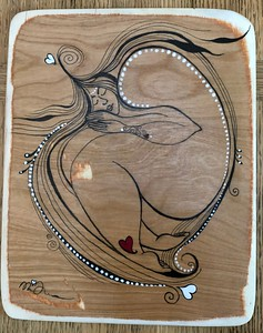 Wood art by Nira Dahan -'Love Dream'.