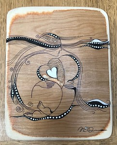 Wood art by Nira Dahan - ' Deep in My Heart'