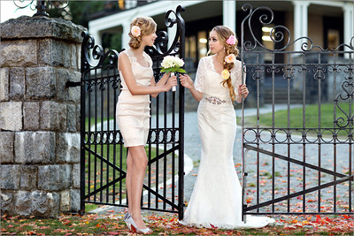 Bride & Maid:  Kristin and Jayden