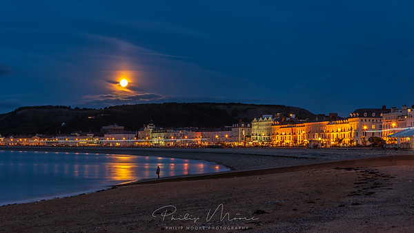 Moon over Llandudno