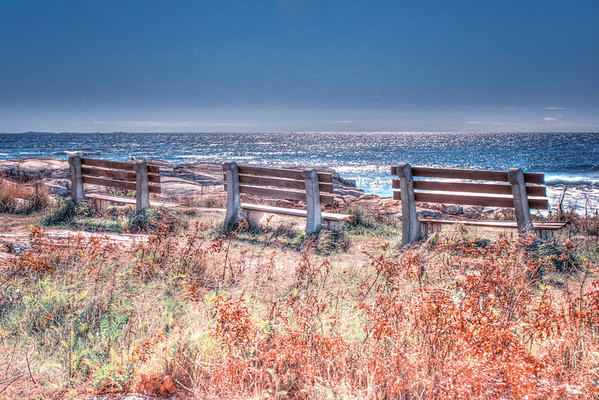 HDR - Coastline near North Hampton, New Hampshire