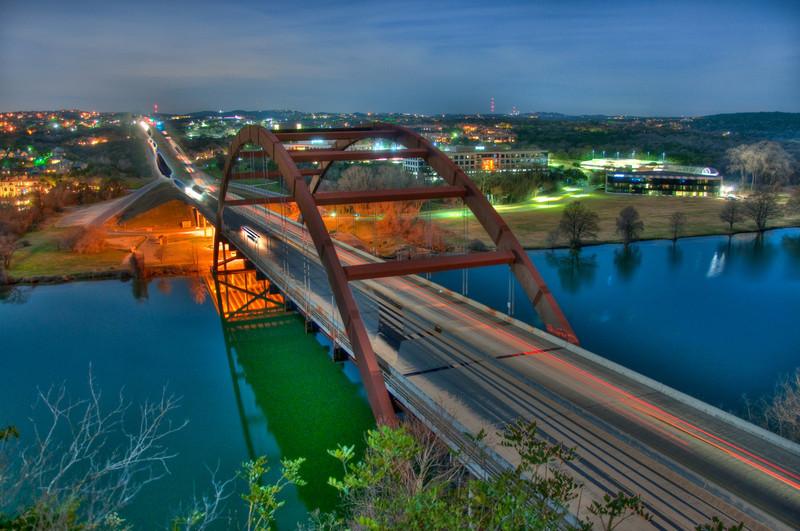 HDR - Austin Pennybacker Bridge at Night