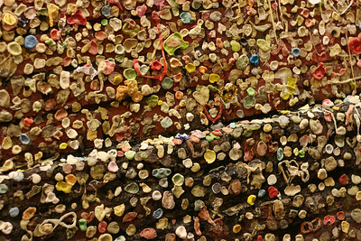Gum Wall - closeup
