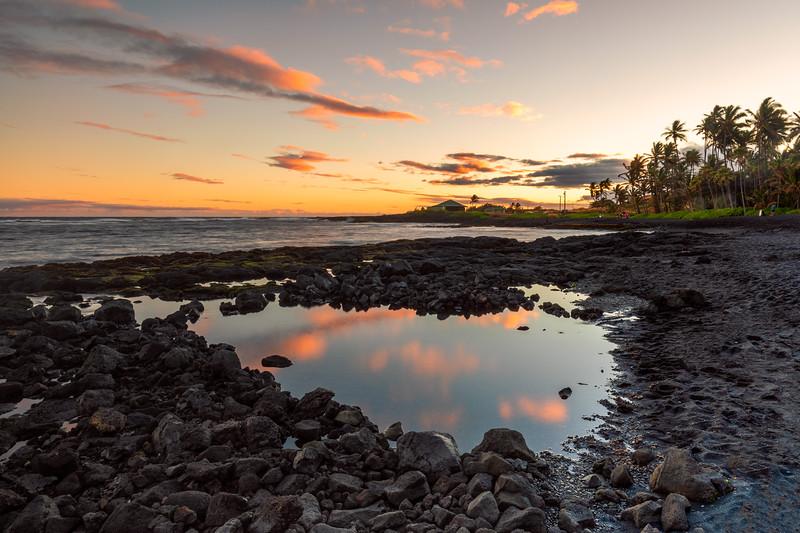 Sunset @ Punaluʻu Beach (Black Sand Beach)  | Big Island, Hawaii