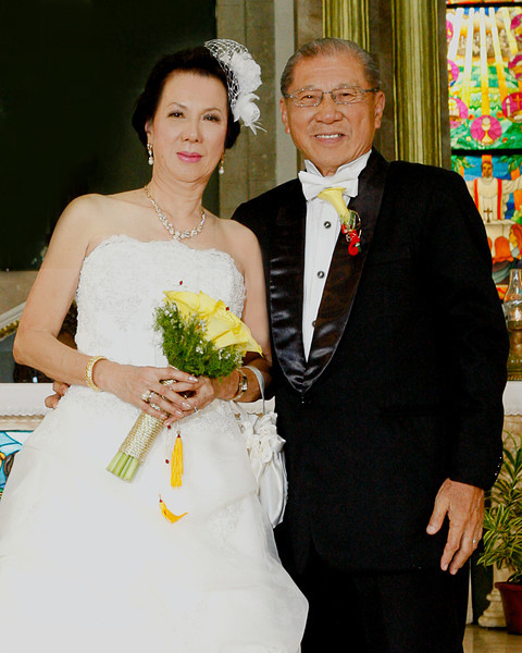 Frank and Leonor Yap<br /> Golden Wedding Anniversary<br /> St. Gregory the Great Cathedral<br /> Old Albay, Legazpi City<br /> Philippines<br /> June 4, 2011