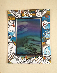 "love dove // watercolor on mat / silk  8""x10"" // original"