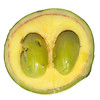 Natural rainforest fruit (mildbraediodendron excelsum)