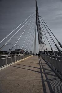 Esplanade Riel Bridge, Winnipeg, Manitoba, Canada