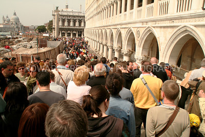 Crowds in Venice, Italy