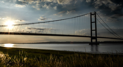 Humber Bridge in the evening