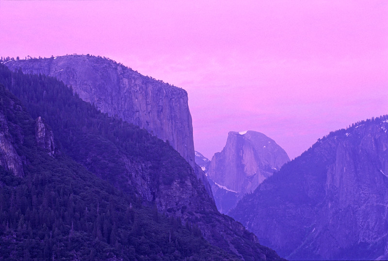 El Capitan and Half Dome