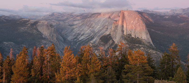 Autumn Sunset on Half Dome