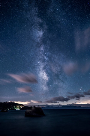 Made from 5 light frames (captured with a SONY camera) by Starry Landscape Stacker 1.6.1.  Algorithm: Median