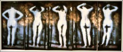 """queen of heaven, 84"""" x 200"""" photo mural w/ acrylic"""