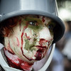 A Buckethead Zombie
