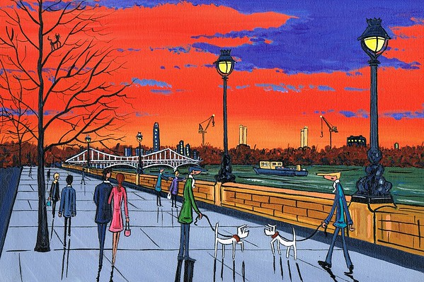 Battersea Sunset for dreamers