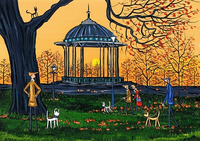 Look at that sunset over Clapham bandstand ..bert