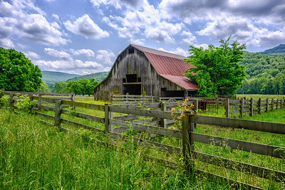Barn In Springtime