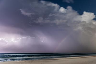 Lunar Rainbow Storm (In Memoriam)