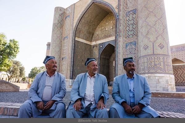 Men in front of Madrasah