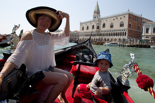 In front of the Doge's Palace.