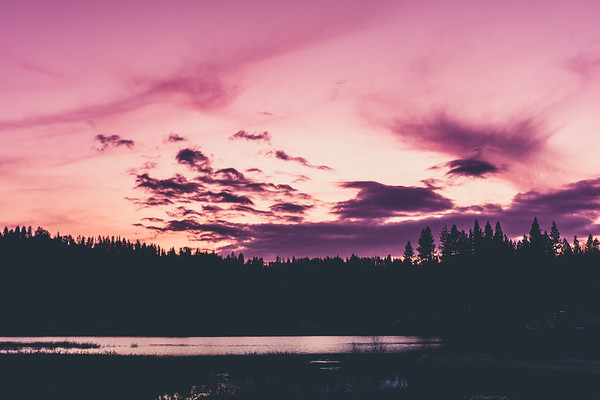 Sunset Silhouette, Bass Lake, CA